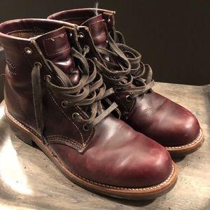 Chippewa men's burgundy boots